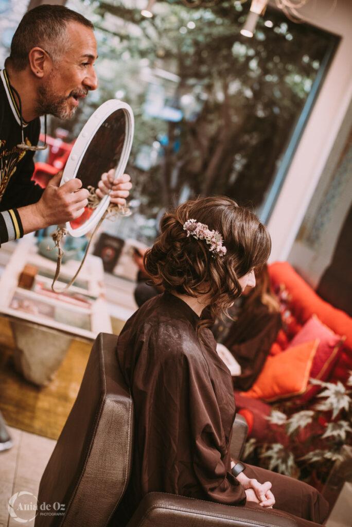 Preparación de los novios en summum peluqueros Vitoria