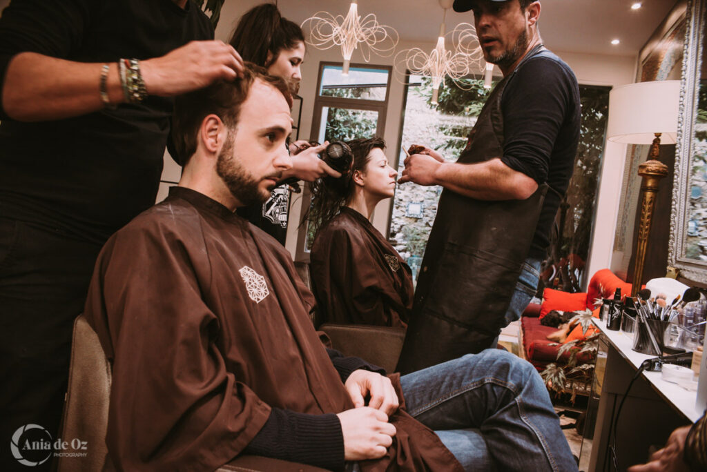 Reportaje de bodas summum peluqueros Vitoria