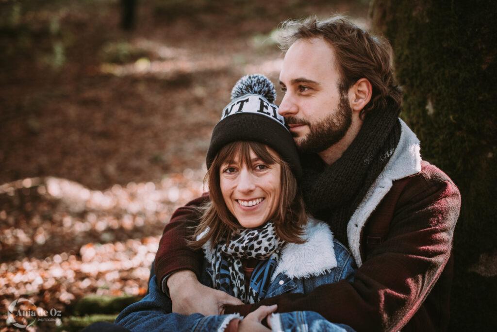 Sesión de pareja en el hayedo de otzarreta